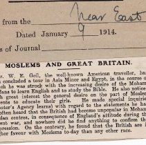"""Image of Geil - """"moslems and great britain"""" The Near East, January 9, 1914"""