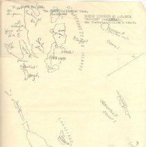 """Image of Geil - GWWT """"Moresby"""" for Samrrai [sic] sheet 346 Map from Capt. William's chart   Hand drawn/copied map of D'entrecasteaux Islands and Louisiade Archipelago"""