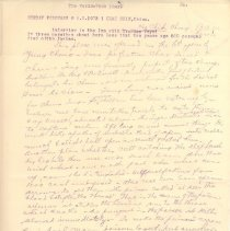 Image of Geil - GWWT I Chae Hsin China Interview in the Inn with Ho Chih Chang in three parsihes about here less than two years ago, 500 persons died of the famine  entire page is handwritten except for heading