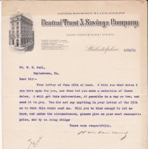 Image of Geil - From Howard M. Van Court, To  William Edgar Geil, Philadelphia, Pennsylvania, June 22, 1911