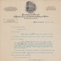 Image of Geil - To William Edgar Geil, from Henry F. Scheetz, Philadelphia, Pennslvania, April 21, 1911  note: geil edited letter