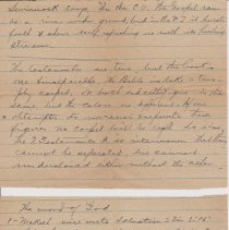 """Image of Geil - handwritten note, """"Swinnock says..."""" New Testament  note: item in two separate pieces  note: located in folder """"miscellaneous (undated - early?) notes, jottings, writings - """""""