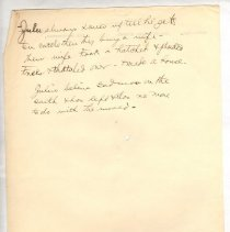 """Image of Geil - two sided handwritten note on religion, agriculture on side one typewritten header on Ephesus on side two  note: located in folder """"hand-written notes - for sermons? - or books - or speeches (7)"""""""
