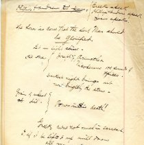 "Image of Geil - handwritten note, ""greeks speak, phillys speak, jesus speaks""   note: located in folder ""hand-written notes - for sermons? - or books - or speeches (7)"""