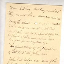 """Image of Geil - handwritten note on religion  note: located in folder """"hand-written notes - for sermons? or books - or speeches - (9)"""""""