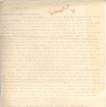 """Image of Geil - typed note, with notes in pencil and pen: """".clement boardman...stratford, london...""""  october 2, 1904, location unknown  note: located in folder """"misc. writings: """"boardman"""""""""""