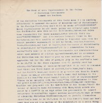 "Image of Geil - typed note: ""The Need of more Righteousness in the Policy of Christian Governments toward to Heathen""