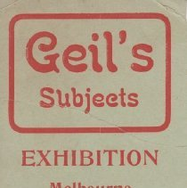 "Image of Geil - flyer ""geil's subjects""