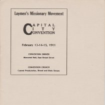 Image of Geil - program for layman's missionary movement at the capital city convention, february 13-14-15, 1911 Located in folder:  Religious programs featuring Geil