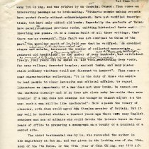 Image of Geil - 4 typed pages, on tai shan  Located in folder: The Sacred 5: Various Parts, Mixed