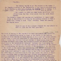 """Image of Geil - one page of typed notes, titled """"anking."""" on the pagodas of nanking  Located in folder: """"18 Capitals: Chap. 9 - Ms. Drafts"""""""