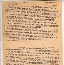 """Image of Geil - one page of typed notes, titled """"anking. preface."""" on the history of anking during the han dynasty. dated April 18, 1910  Located in folder: """"18 Capitals: Chap. 9 - Ms. Drafts"""""""