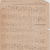 """Image of Geil - one page of typed notes, titled """"5th Vol. Annals of Hwai Lin Hsien. An ancient poem concerning the wife of chiao chung ching"""" dated April 16, 1910  Located in folder: """"18 Capitals: Chap. 9 - Ms. Drafts"""""""