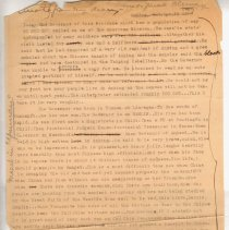 """Image of Geil - one page of typed and handwritten notes enroute from my diary  Located in folder: """"18 Capitals: Chap. 9 - Ms. Drafts"""""""