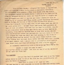 Image of Geil - incomplete note on Geil's Palm Sunday in Changsha, Geil's thoughts on aging and missionary work, and the translation of the deed to the London Missionary Society property by Reverend C.G. Sparham  Located in folder: 18 Capitals: Chap. 12 - Notes + Ms. Material