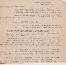"""Image of Geil - one typed note, titled """"Meditations plus observations"""" on the Japanese, the amount of dogs in Changsha, characteristics of the people of Changsha, and Chinese dialects. Dated March 5, 1910  Located in folder: 18 Capitals: Chap. 12 - Ms. Drafts"""