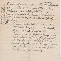 """Image of Geil - handwritten note, one pg: """"3000 years ago...""""   Located in folder: """"18 Capitals: Chap. 16 - Notes"""""""