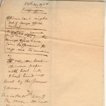 """Image of Geil - handwritten note: """"84th Day 1910 Kaifengfu""""  Located in folder: 18 Capitals: chap. 16 - MS. Materials"""