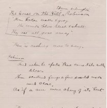 "Image of Geil - handwritten notes ""The House on the hill Edwin Arlington Robinson""