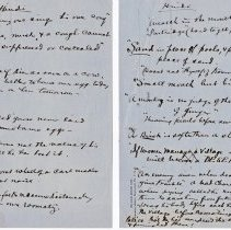 """Image of Geil - handwritten notes """"Hindi...""""  located in folder: hand-written notes, jottings, etc: mostly china (some great wall-related) not sorted (5)"""