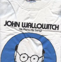 Image of T-shirt - John Wallowitch: His Piano, His Songs National Cable Programming Week Suburban Community Cable