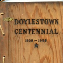 Image of Commemorative - Doylestown Centennial 1838-1938 wooden-bound book