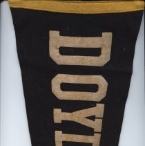 "Image of Pennant - Black felt triangular pennant with DOYLESTOWN in gold lettering 23"" x 7"""
