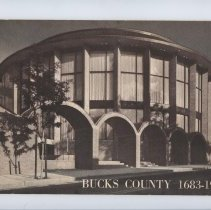 """Image of Invitation to dedication of Bucks County Courthouse Dedication paperback booklet 7"""" x 10"""""""