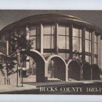 Image of Bucks Co courthouse dedication pamphlet