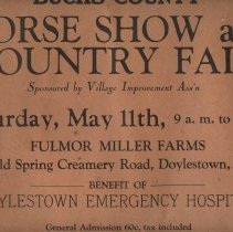 Image of Poster Bucks County Horse Show 1946