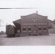 Image of Reading railroad freight station 1950