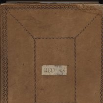Image of Minutes book of Doylestown Cemetery Board of Directors