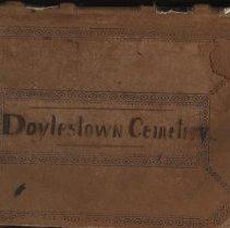 Image of Doylestown Cemetery Board of Directors Treasurer's Book #2