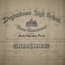 Image of Diploma for Mable V. Fluck (1906)