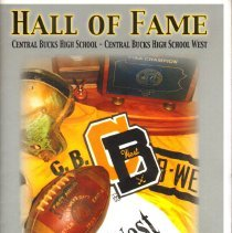 "Image of 2015 ""Hall of Fame"" football booklet for Central Bucks West High School.