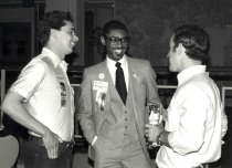 Image of Wendell Wharton, Jr., with unidentified others, D.C., 1982