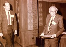Image of Robert Curry and Henry Silver, Denver Conference, 1984
