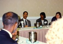 Image of AAPA3.013 - Michael Powe and Robin Hunter-Buskey at Northeast Regional Meeting, 1997