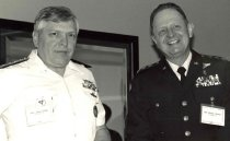 Image of Admiral Jame Zimble and General Murphy Chesney, 1987