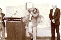 Image of African American PA receiving award, 1989