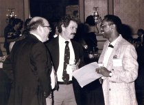 Image of Reggie Carter, Bud Shelton, and Lovest Alexander, 1990