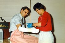 Image of AAPA5.101 - Wrapping a Cast, 1996