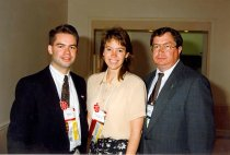 Image of James McGraw, Beth Grivett, and Paul Robinson, 1996