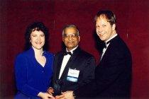 Image of AAPA6.052 - Sherrie McNeeley, Chetram Parboo, and Bill Kohlhepp, 1997