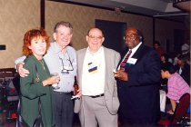 Image of AAPA6.070 - Sharon and Jesse Edwards, Reggie Carter and Carl Toney. Minneapolis Conference, 1997.