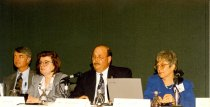Image of AAPA6.099 - Ralph Doerr, Elaine Grant, Marshall Sinback, and Katie Hill, 1998