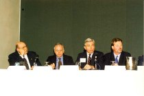 Image of AAPA6.110 - Reggie Carter, Willis Williams, Bruce Hasenkemp, and Jim Cawley, 1998