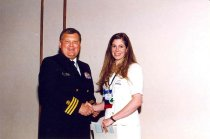 Image of Admiral Milner and Stacy Dinwiddie, 1998