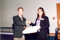 Image of AAPA6.155 - Don Pedersen with Timi Agar Barwick, 1998