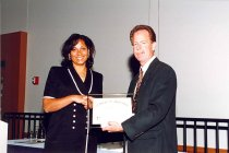 Image of AAPA6.156 - Don Pedersen with Dawn Morton-Rias, 1998